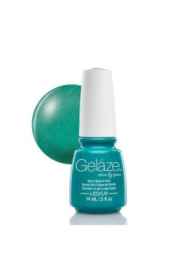 China Glaze Gelaze Gel Polish - Turned Up Turquoise - 0.5oz / 14ml