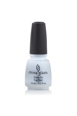 China Glaze Treatment - Gotta Go! Top Coat - 0.5oz / 14ml