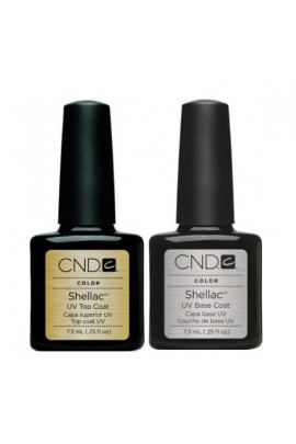 CND Shellac Power Polish - UV Top Coat / Base Coat - 0.25oz / 7.3ml
