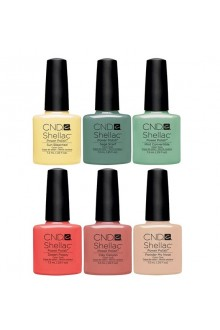 CND Shellac Power Polish - Open Road Collection - 0.25oz / 7.3mL EACH - ALL 6 Colors
