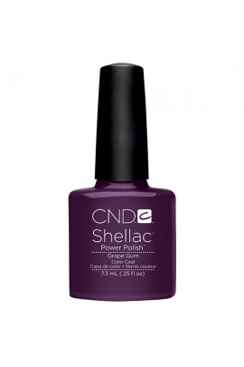 CND Shellac Power Polish - Summer Splash Collection - Grape Gum - 0.25oz / 7.3ml