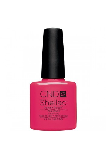 CND Shellac Power Polish - Summer Splash Collection - Pink Bikini - 0.25oz / 7.3ml