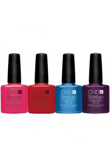 CND Shellac Power Polish - 2013 Summer Splash Collection -  0.25oz / 7.3ml EACH - ALL 4 Colors