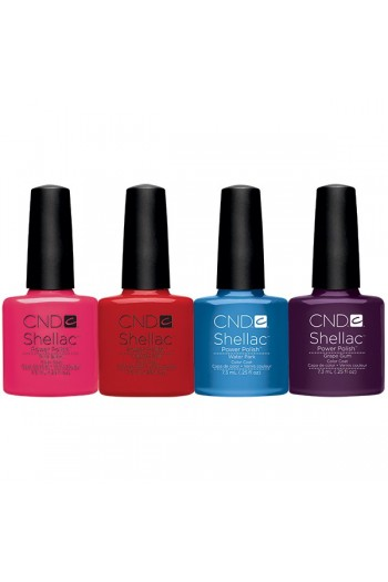 CND Shellac Power Polish - 2013 Summer Splash Collection -  0.25oz / 7.3ml EACH - ALL 4 Colors