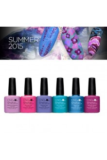CND Shellac Power Polish - Garden Muse Collection Summer 2015 - All 6 Colors