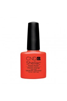 CND Shellac Power Polish - Paradise Collection - Electric Orange - 0.25oz / 7.3ml