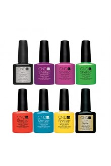 CND Shellac Power Polish - Paradise Collection - All 6 Colors + Base Top