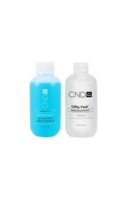 CND Nail Essentials - Offly Fast & ScrubFresh DUO - 59ml / 2oz Each