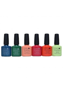 CND Shellac - Rhythm & Heat Summer 2017 Collection - All 6 Colors - 7.3ml / 0.25oz Each