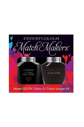 Cuccio Match Makers - Veneer LED/UV Colour & Colour Lacquer - 2am In Hollywood - 0.43oz / 13ml each