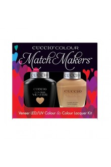 Cuccio Match Makers - Veneer LED/UV Colour & Colour Lacquer - Skin To Skin 6172 - 0.43oz / 13ml each