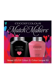 Cuccio Match Makers - Veneer LED/UV Colour & Colour Lacquer - Sweet Treat - 0.43oz / 13ml each