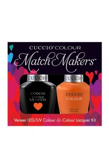 Cuccio Match Makers - Veneer LED/UV Colour & Colour Lacquer - Tutti Frutti - 0.43oz / 13ml each