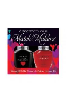Cuccio Match Makers - Veneer LED/UV Colour & Colour Lacquer - A Kiss In Paris - 0.43oz / 13ml each