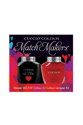 Cuccio Match Makers - Veneer LED/UV Colour & Colour Lacquer - A Kiss In Paris - 0.43oz / 13ml each