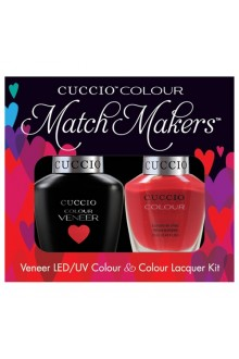 Cuccio Match Makers - Veneer LED/UV Colour & Colour Lacquer - Italian Collection - A Pisa My Heart - 0.43oz / 13ml each