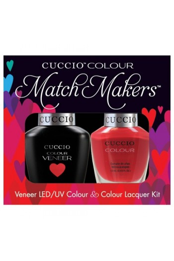 Cuccio Match Makers - Veneer LED/UV Colour & Colour Lacquer - A Pisa My Heart - 0.43oz / 13ml each