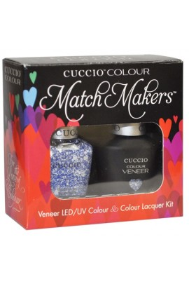 Cuccio Match Makers - Veneer LED/UV Colour & Colour Lacquer - All the Rave - 0.43oz / 13ml each
