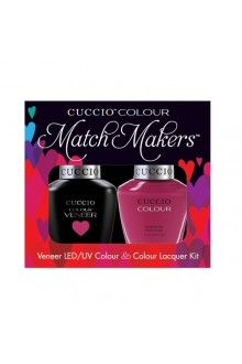 Cuccio Match Makers - Veneer LED/UV Colour & Colour Lacquer - Argentinian Aubergine - 0.43oz / 13ml each