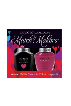 Cuccio Match Makers - Veneer LED/UV Colour & Colour Lacquer - Argentinian Aubergine - 0.43oz / 13ml each