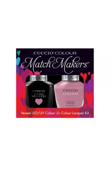 Cuccio Match Makers - Veneer LED/UV Colour & Colour Lacquer - Bali Bliss - 0.43oz / 13ml each