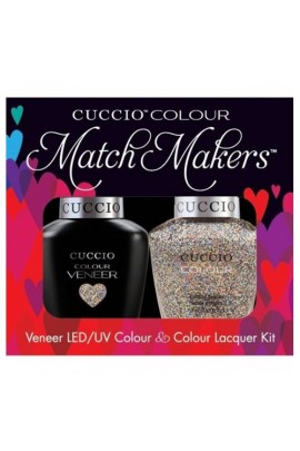 Cuccio Match Makers - Veneer LED/UV Colour & Colour Lacquer - Bean There Done That - 0.43oz / 13ml each
