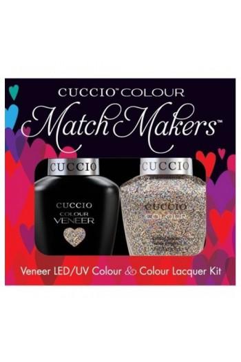 Cuccio Match Makers - Veneer LED/UV Colour & Colour Lacquer - Bean There Done That - 0.43oz / 13ml each