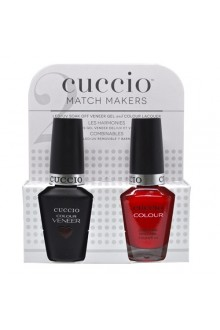 Cuccio Match Makers - Veneer LED/UV Colour & Colour Lacquer - Bloody Mary - 0.43oz / 13ml