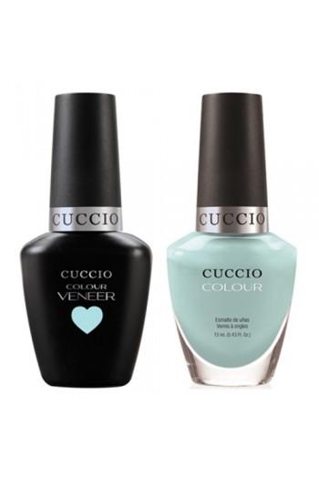 Cuccio Match Makers - Veneer LED/UV Colour & Colour Lacquer - Blue Hawaiian - 0.43oz / 13ml each