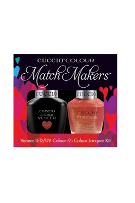 Cuccio Match Makers - Veneer LED/UV Colour & Colour Lacquer - Blush Hour - 0.43oz / 13ml each