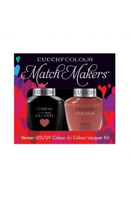 Cuccio Match Makers - Veneer LED/UV Colour & Colour Lacquer - Boston Cream Pie - 0.43oz / 13ml each