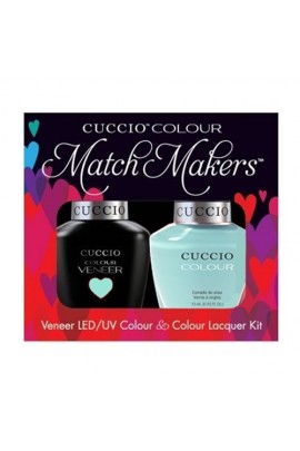 Cuccio Match Makers - Veneer LED/UV Colour & Colour Lacquer - Breakfast in NYC - 0.43oz / 13ml each