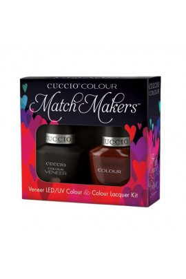 Cuccio Match Makers - Veneer LED/UV Colour & Colour Lacquer - Brew, Ha Ha - 0.43oz / 13ml each