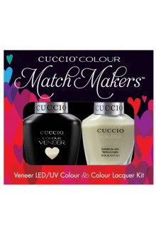 Cuccio Match Makers - Veneer LED/UV Colour & Colour Lacquer - Italian Collection - Brindisi As 1,2,3 - 0.43oz / 13ml each