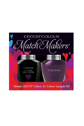 Cuccio Match Makers - Veneer LED/UV Colour & Colour Lacquer - Brooklyn Never Sleeps - 0.43oz / 13ml each