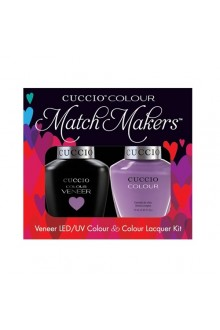 Cuccio Match Makers - Veneer LED/UV Colour & Colour Lacquer - Cheeky In Helsinki - 0.43oz / 13ml each