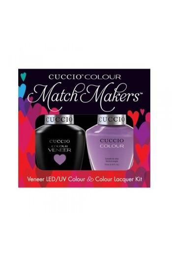 Cuccio Match Makers - Veneer LED/UV Colour & Colour Lacquer - Cheeky In Helsinki - 0.43oz / 13ml each