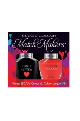 Cuccio Match Makers - Veneer LED/UV Colour & Colour Lacquer - Chillin In Chile - 0.43oz / 13ml each