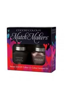 Cuccio Match Makers - Veneer LED/UV Colour & Colour Lacquer - Coffee, Tea or Me - 0.43oz / 13ml each
