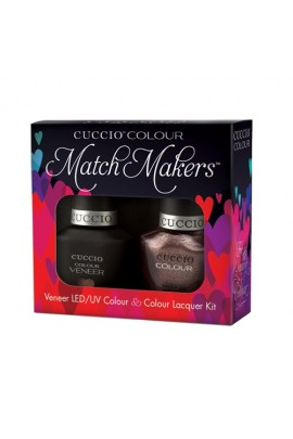 Cuccio Match Makers - Veneer LED/UV Colour & Colour Lacquer - Coffee, Tea or Me - 0.43oz / 13ml each