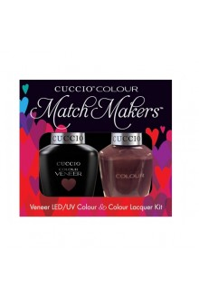 Cuccio Match Makers - Veneer LED/UV Colour & Colour Lacquer - Count Me In! 6168 - 0.43oz / 13ml each