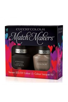 Cuccio Match Makers - Veneer LED/UV Colour & Colour Lacquer - Cream & Sugar - 0.43oz / 13ml