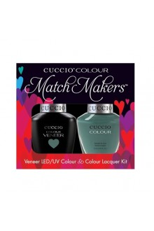 Cuccio Match Makers - Veneer LED/UV Colour & Colour Lacquer - Dubai Me an Island - 0.43oz / 13ml each