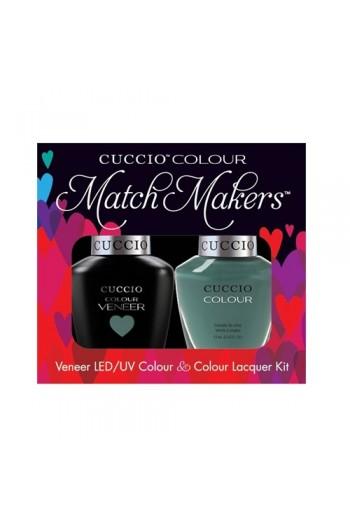 Cuccio Match Makers - Veneer LED/UV Colour & Colour Lacquer - Dubai Me an Island - 0.43oz / 13ml each
