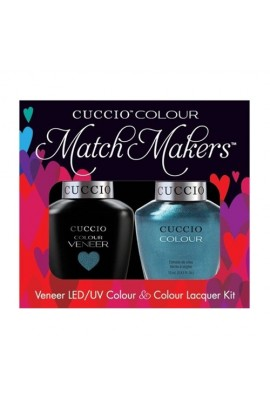 Cuccio Match Makers - Veneer LED/UV Colour & Colour Lacquer - Dublin Emerald Isle - 0.43oz / 13ml each
