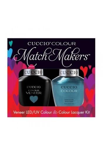 Cuccio Match Makers - Veneer LED/UV Colour & Colour Lacquer - Dublin Emerald Isle - 0.43oz / 13ml each