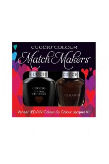 Cuccio Match Makers - Veneer LED/UV Colour & Colour Lacquer - Duke It Out 6165 - 0.43oz / 13ml each