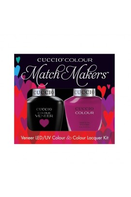 Cuccio Match Makers - Veneer LED/UV Colour & Colour Lacquer - Eye Candy In Miami - 0.43oz / 13ml each