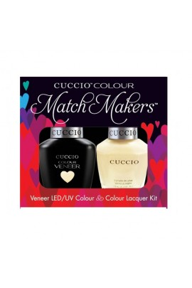 Cuccio Match Makers - Veneer LED/UV Colour & Colour Lacquer - Fair Game 6171 - 0.43oz / 13ml each