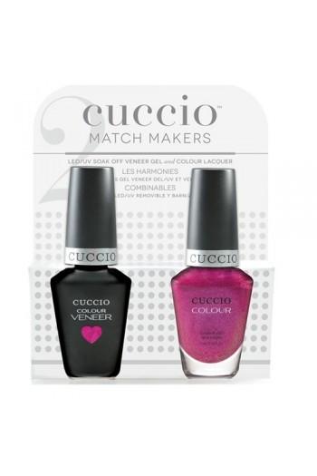 Cuccio Match Makers - Veneer LED/UV Colour & Colour Lacquer - Femme Fatale - 0.43oz / 13ml each